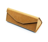 2015 New Fashion eyewear glass leather Case hight quality Coated Folding Triangle Retro Reading Glasses Case