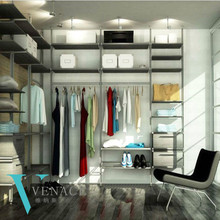 Cheap aluminium bedroom wall wardrobe design steel wardrobe