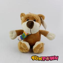 stuffed soft dog with scarf plush toy big foot plush dog toy