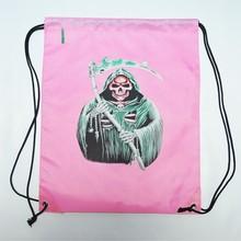 Alibaba Online Shopping Printed Satin Polyester Drawstring Shoe Bag