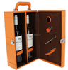 more bottles leather wine case , wine carrier with handle