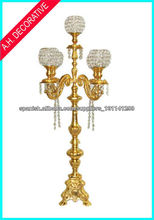 Candelabra with 5 arms, Crystal candelabra