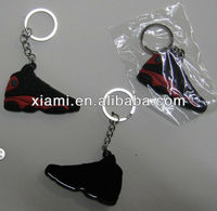Soft pvc rubber air jordan sneaker 3d keychains