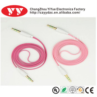 For DVD/TV/mobile phone 3.5mm audio extension flat aux cable