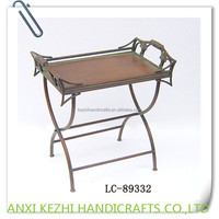 antique iron folding serving tray table