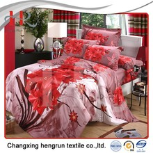 Changxing fabric manufacturer 100% polyester brushed printed fabric