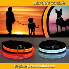 7 Colors Adjustable LED Dog Collar Glow Flashing Light Up Pet Necklace Nylon Luminous Safety Collar Size S M L Drop ship DC-2501