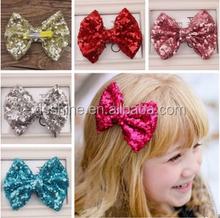 children&girl big Sequin bowknot hairpin/baby girl hair accessories