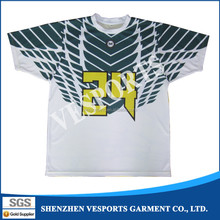 Sublimation printing mens T Shirt embroidered