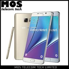 N9208 32GB Super AMOLED 5.7 inches Touch Screen 2560x1440 pixels Nano SIM Samsung Galaxy Note 5 Dual SIM 4G LTE Mobile Phone
