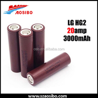 New Original 18650 lg 3000mah HG2 3.6V High drain 18650 20A better lg he4 18650 25R 3.6v for electronic e cig cigarette battery