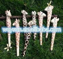 Animal Wooden carving creative ballpoint pen wood Ball point pens handmade sculpture student ball-point