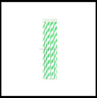 50pcs packed in PVC BOX paper straws