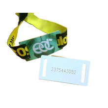 Adjustable Festival Woven Silicone NFC Wristband
