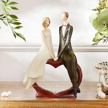 Bride and groom figurine resin wedding couple gift