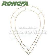 Cheap drop-shaped wire wreath frame wholesale