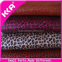 Fashion leopard printed PVC leather for bags material