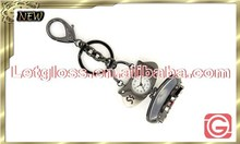 Sharp Zinc alloy handbag shaped modern keyring watch