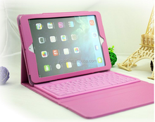 wireless bluetooth leather keyboard case cover for ipad mini 3 , for ipad mini 3 bluetooth keyboard case