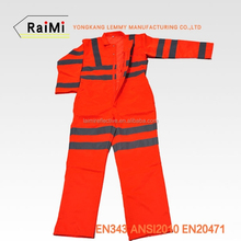 High Visibility Reflective Safety knitted jumpsuit siamese work trousers