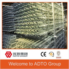 ADTO 48.3*3.2mm Galvanized Layher Scaffold Ringlock Standard with Spigot for Indoor System