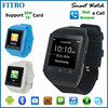 2015 Excellent SIM 240X240pixel bluetooth watch for iphone5s phone
