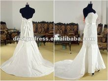 Strapless beaded spanish lace wedding dresses with court train fashion 2012 SW51