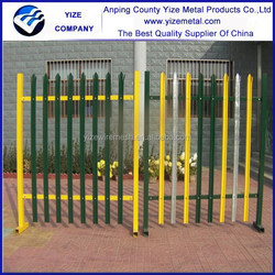 hot sale Manufacturer stainless steel fence/stainless steel palisade fence/powder coated palisade fence (Direct Factory)