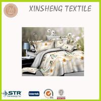3D Reactive prinitng microfiber bedding set comforter set bed linen flower animial design