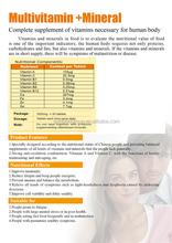 multivitamins tablet nutrition