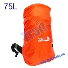 factory 75L orange travel Waterproof outdoor bag rain cover