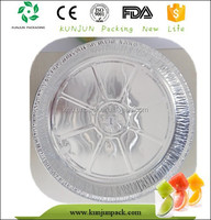 Y2808 Alu Foil Round Silver Microwave Pizza Tray