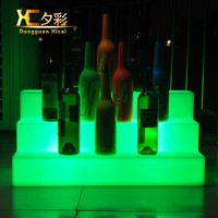 LED Color Changing Wine Display Platform Glowing Alcohols Rack