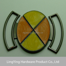 Saleable metal side release buckle with yellow and orange coating