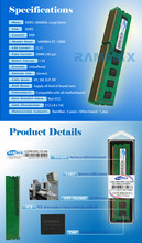 Factory Priced Desktop Part with Samsung IC DDR3 1600MHz 8GB ram LO