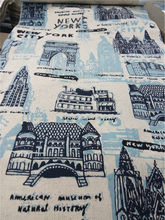 printed cotton linen fabric for sofa covering cushion home upholstery