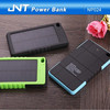 New product promotional gift waterproof portable solar power bank with 6500mah