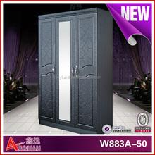 W883-50 bedroom furniture /hot sale 3 door tall wooden wardrobe design/wardrobe closet