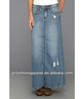 High quality latest wholesale long denim skirts