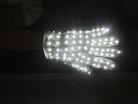 white LED light gloves for dancing