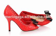 las mujeres del alto talón de la manera de fabricación china marcas de calzado italiano para 2014