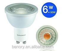 Good price!!! GU10 Mr16 base 6w cob LED Spotlights,e27 LED Spotlight,gu10 led spotlights