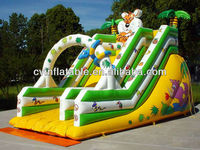 kids favourite high giant inflatable tropical coconut palm animal fruit arch water slide