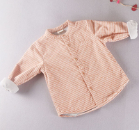 S11775A Best selling casual long sleeve plaid blouse designs for kids