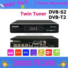 2 TUner DVB-S2+DVB-T21080P FULL HD CCCAM openbox v8 combo hd satellite receiver azbox ultra hd v8 combo