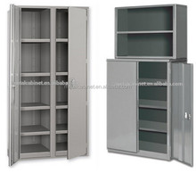 Sheet metal office furniture for files and books stock in office