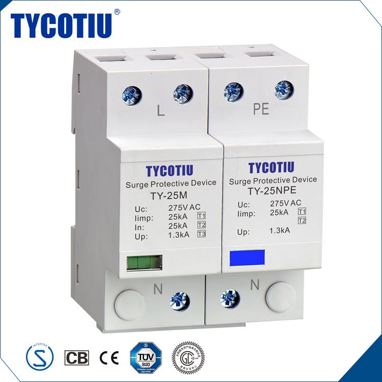 TYCOTIU 제품 중국에서 수입 클래스 I 장치 전원 서지 보호기 Poe