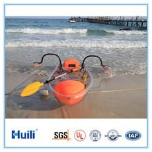 100% Transparent PC material kayak canoe of clear plastic boat