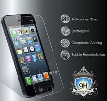 High clear cellphone parts tempered glass screen protective cover for iphone 5/5s