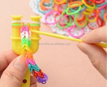 Hot sale fashion cheap rainbow bands loom bands ,rainbow bracelet loom bracelet